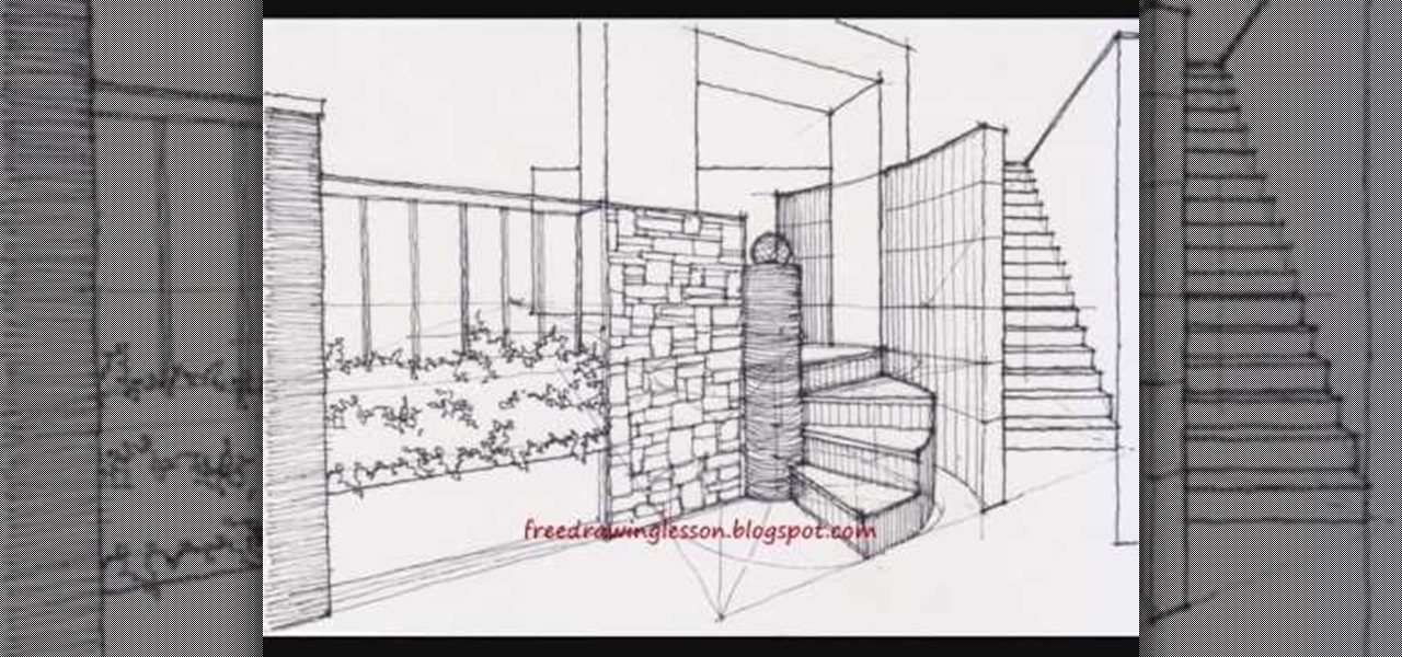 Drawn stairs architectural drawing To with Illustration complex a