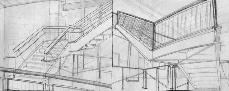 Drawn stairs architectural drawing Com to Pinned #stairs by