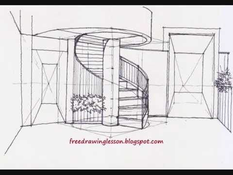 Drawn stairs architectural drawing To to how draw draw