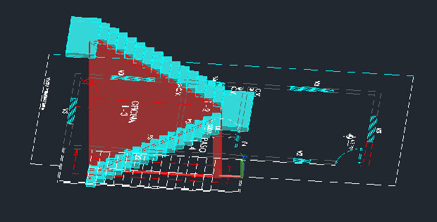 Drawn stairs autocad 3d 3d in 3d Made rectangular