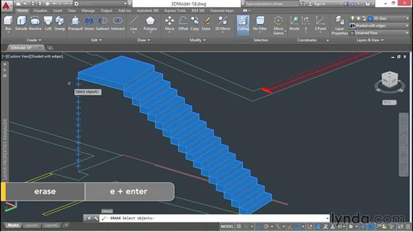 Drawn stairs autocad 3d  plans from stairs Modeling
