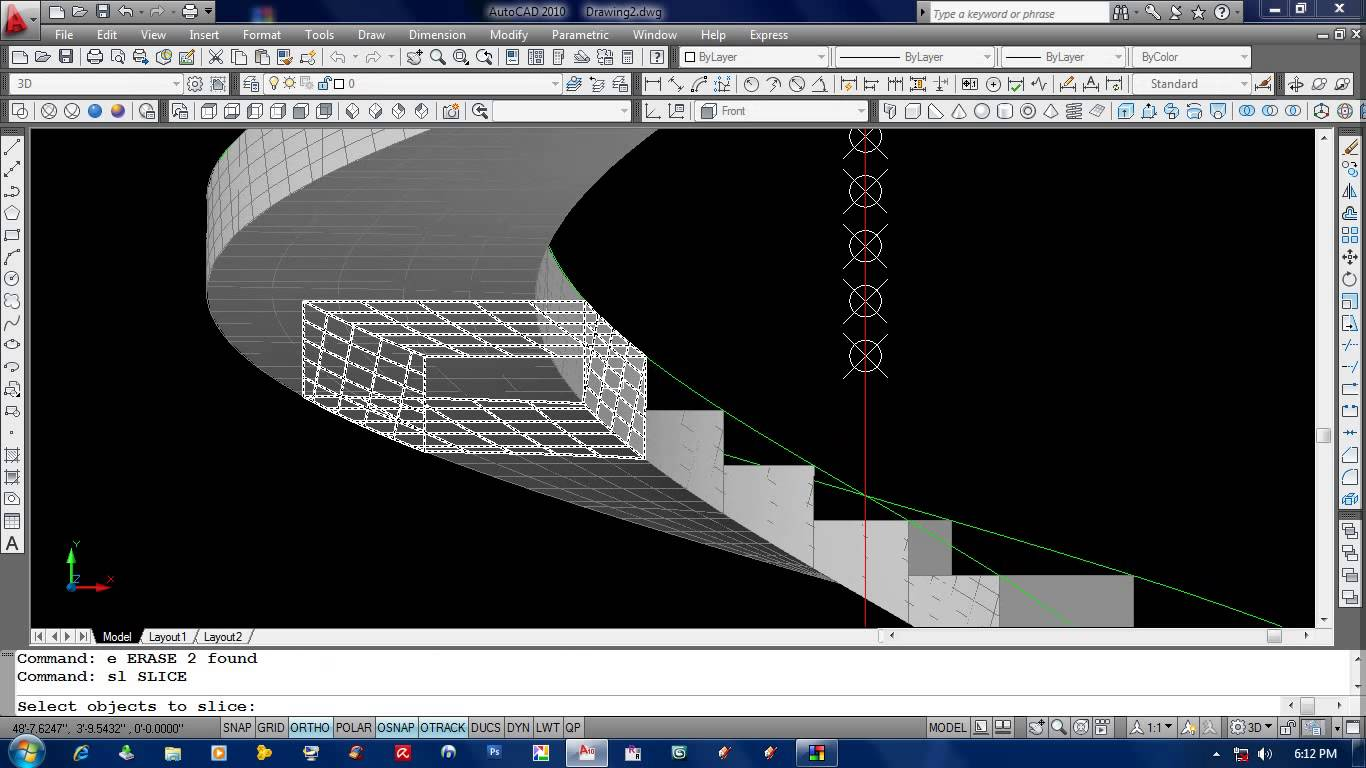 Drawn stairs autocad 3d How spiral draw ( How