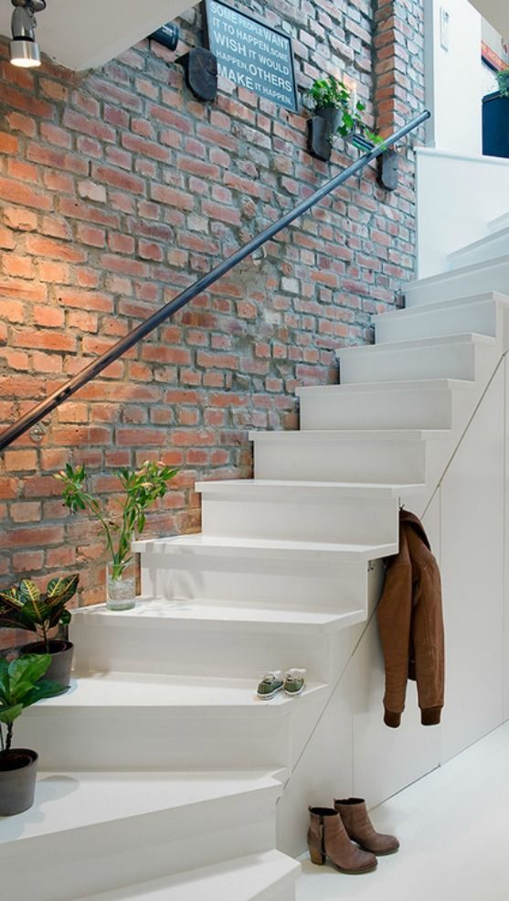 Drawn stairs side Snippets Faux brick walls brick
