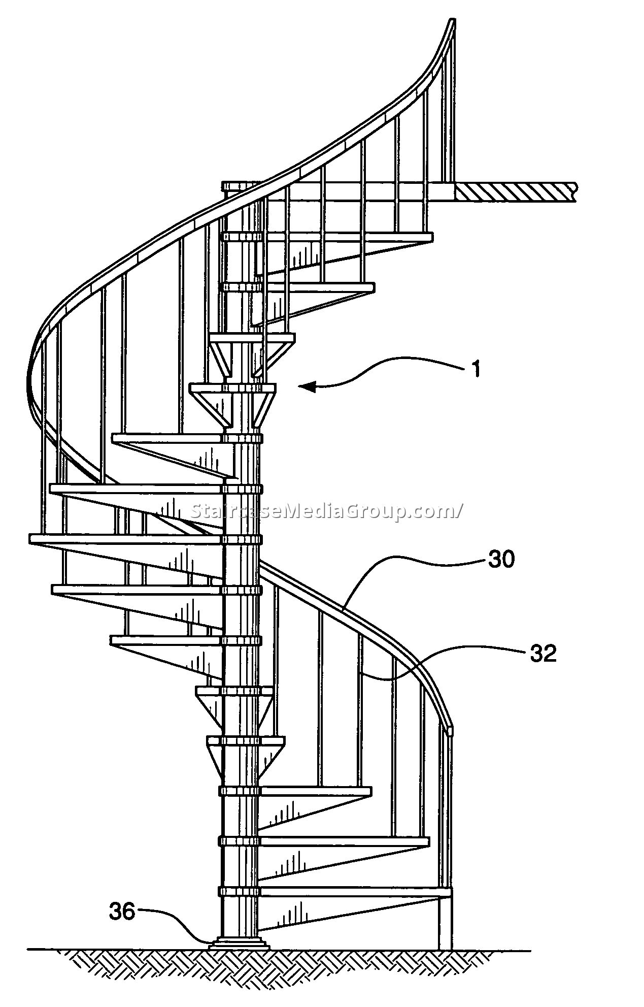 Drawn stairs curved staircase Best Drawing Spiral Staircase Spiral