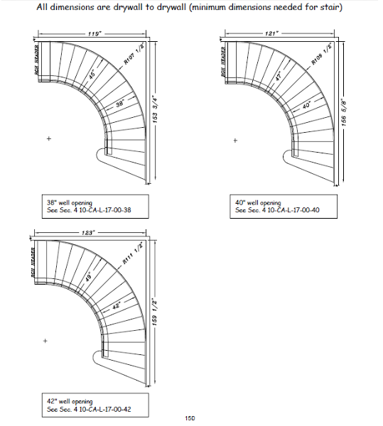 Drawn stairs curved staircase Is space Stairs  required