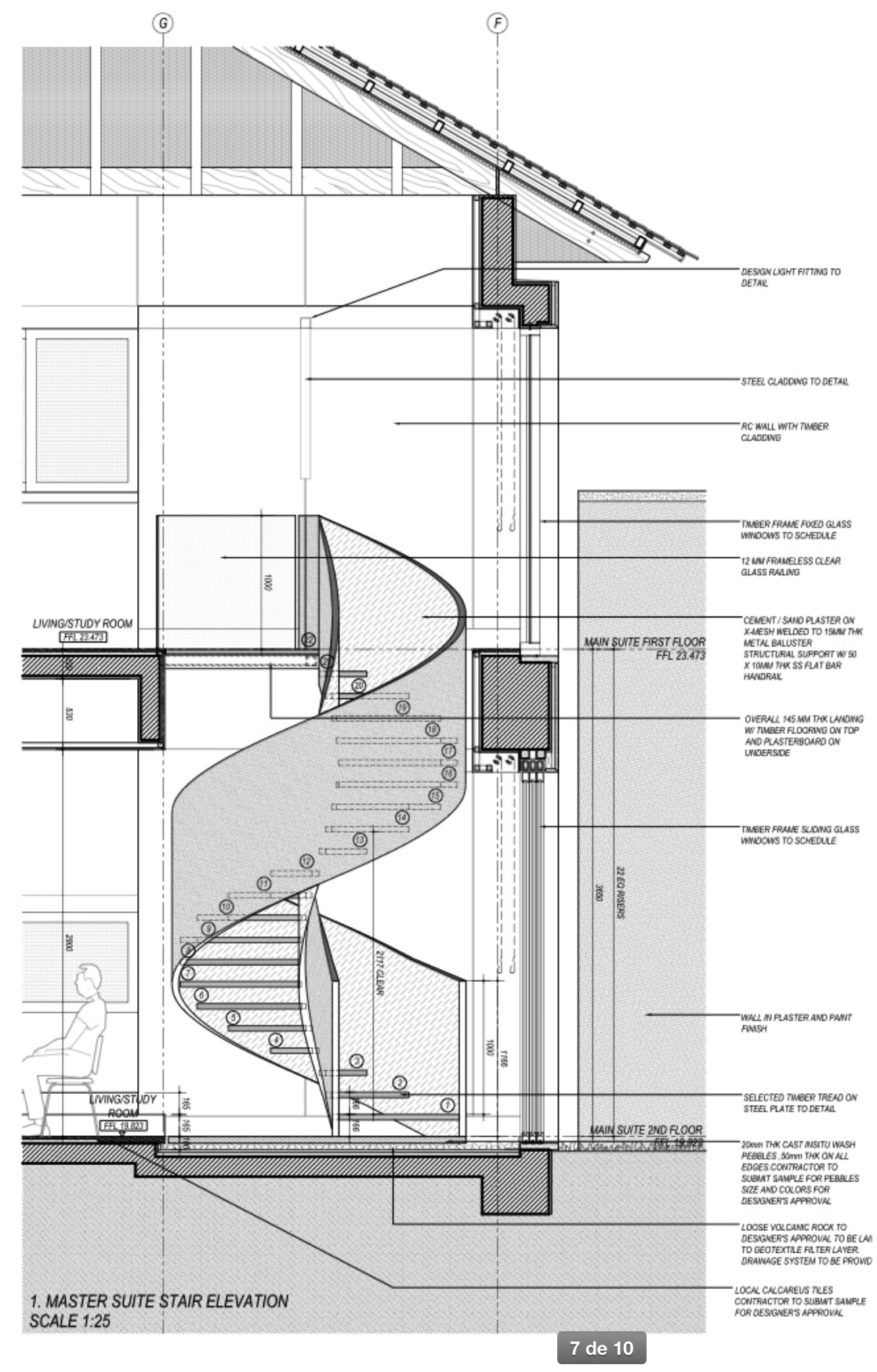 Drawn stairs detail drawing Stair com/originals/e0/d6/5c cache https://s Spiral