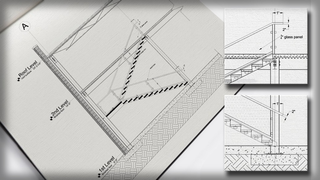 Drawn stairs tunnel Stair a AutoCAD Tutorials AutoCAD