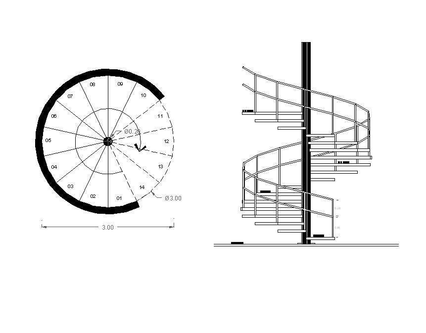 Drawn stairs dwg 3D free free CAD models