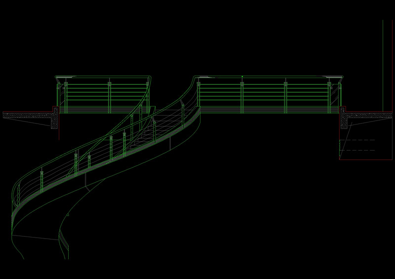 Drawn stairs dwg Autocad and drawings staircase Drawing