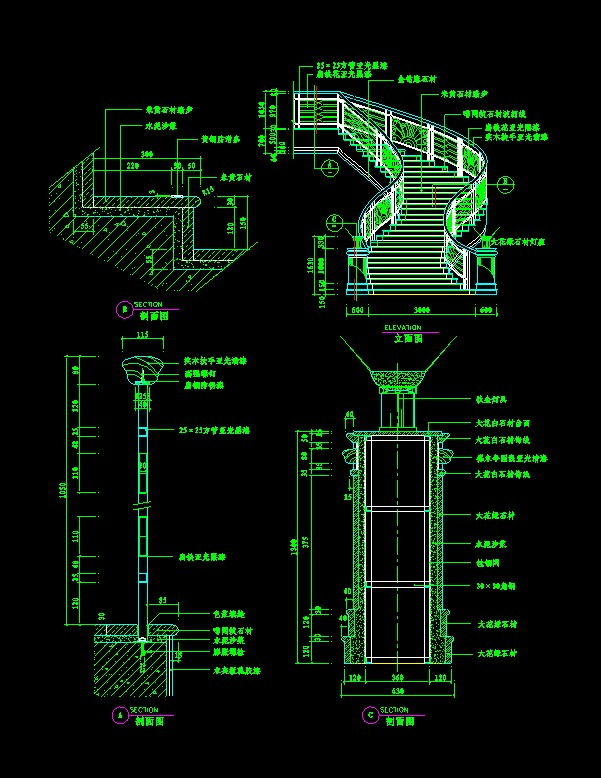 Drawn stairs dwg Of Autocad drawings stairs drawings