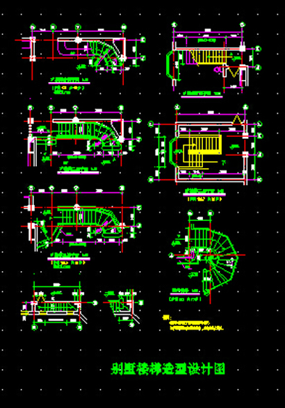 Drawn stairs dwg Autocad Autocad CAD Villa drawings