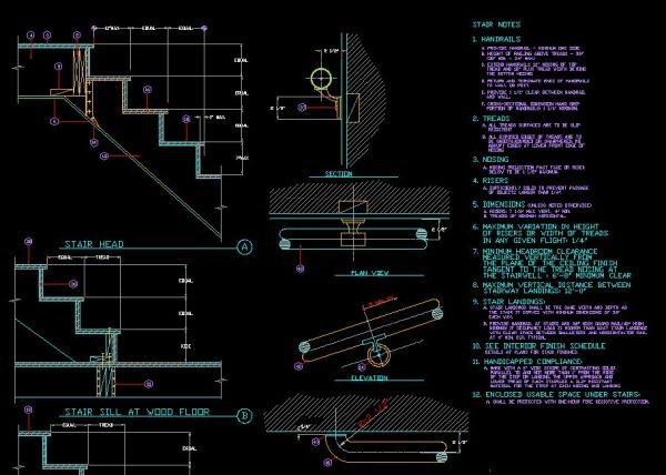 Drawn stairs dwg ★【Stair CAD Library Blocks ArchitectureArchitecture