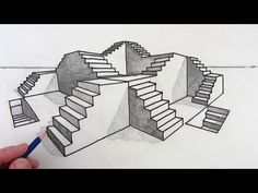 Drawn stairs curved staircase How Part Art Drawing 1
