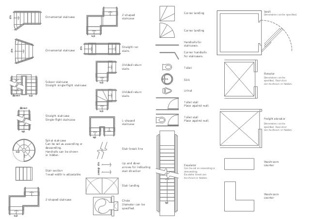 Drawn stairs plan Washroom toilet Plans Plan urinal