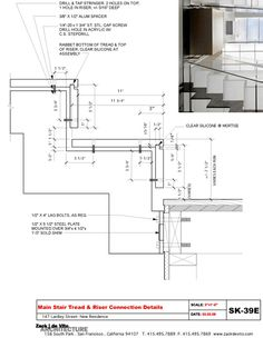 Drawn stairs section Architecture Architecture: Designers and DETAIL1