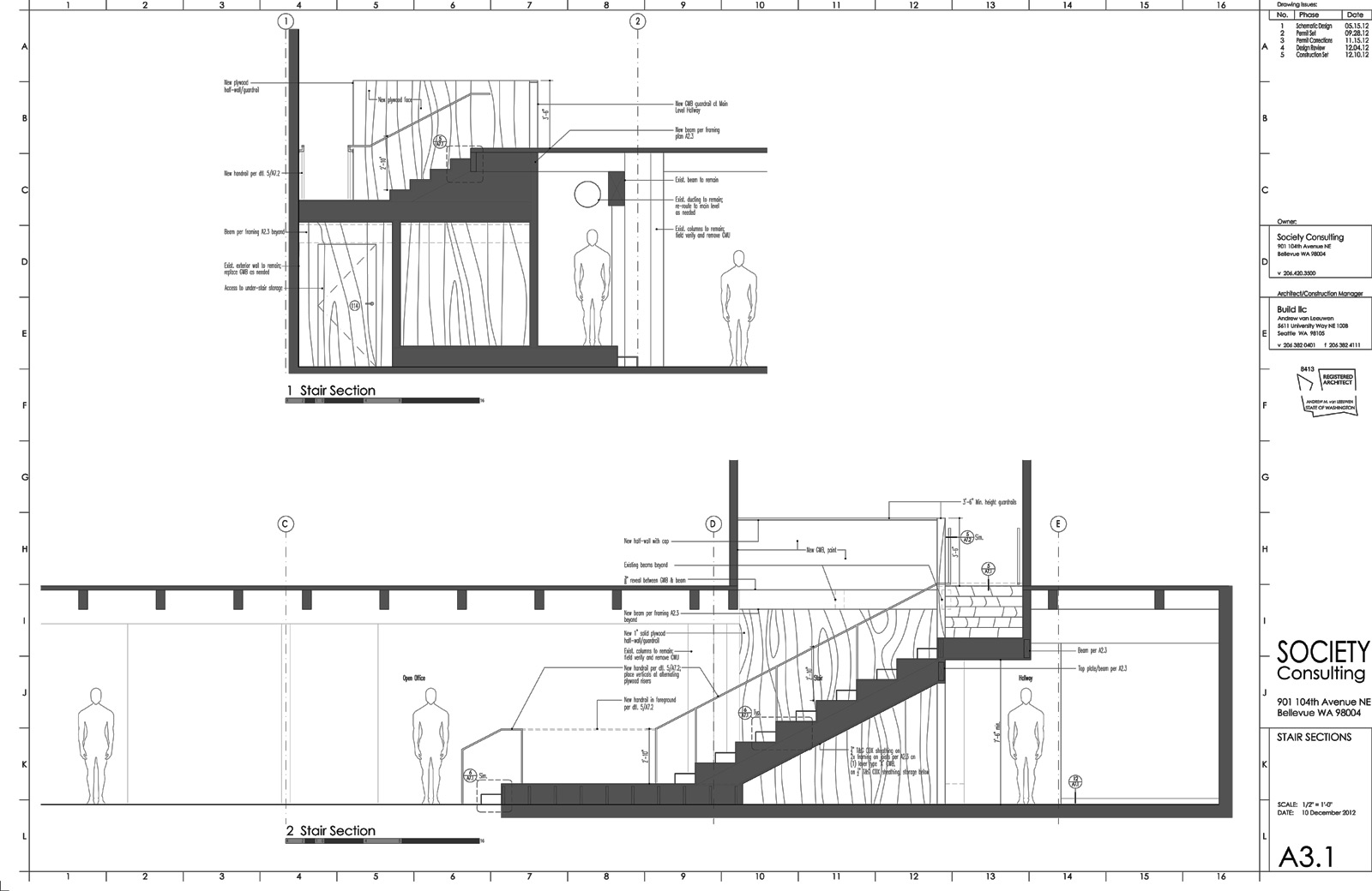 Drawn stairs section Of Commercial Work The Process
