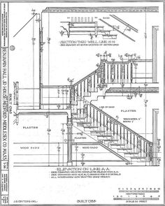 Drawn stairs section DRAWING Google Search STAIR Pinterest