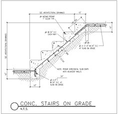 Drawn stairs section Circular more to on CONSTRUCTION