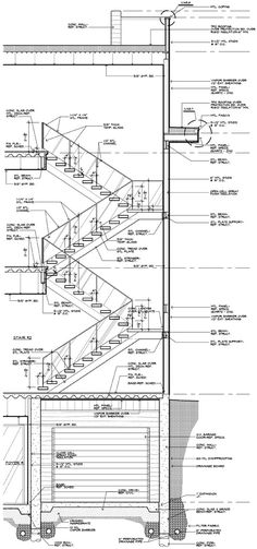 Drawn stairs section Drawings Graphic Pinterest Standards modern