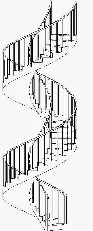 Drawn stairs side Stairs Revit Stairs Spiral RevitCat: