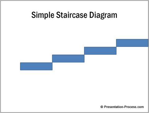 Drawn stairs simple Diagram Stair Basic PowerPoint in