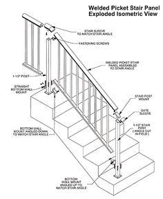 Drawn stairs technical drawing Isometric Floor Hand Aluminum modlar