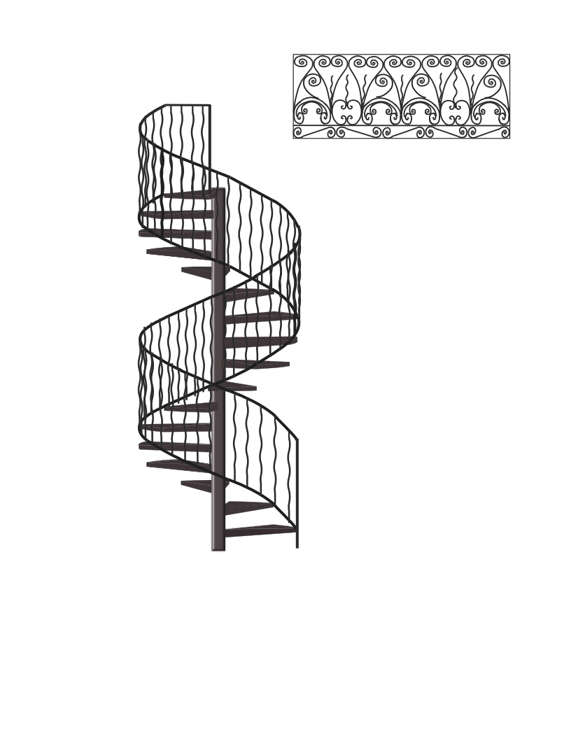 Drawn stairs technical drawing Drawing Iron And Staircase Spiral