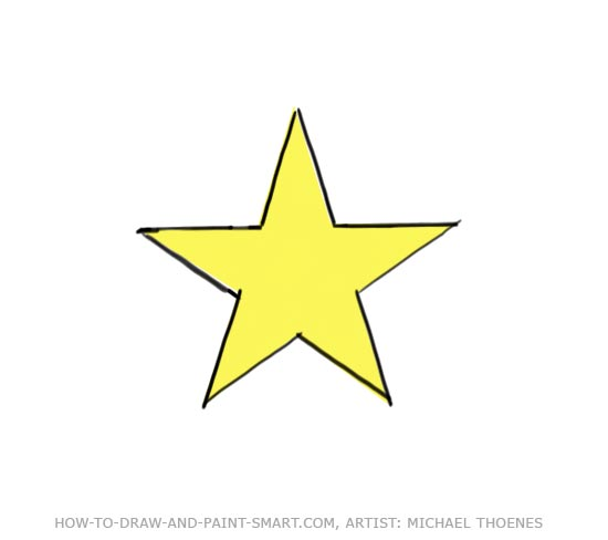 Drawn star Step How Star Star a
