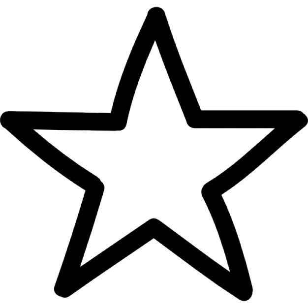 Drawn star Free Star outline outline symbol
