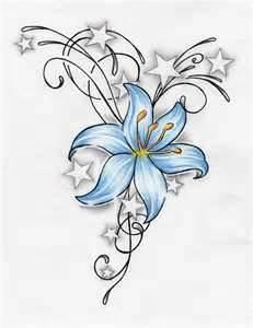 Drawn star basic African an drawn flower Lilly