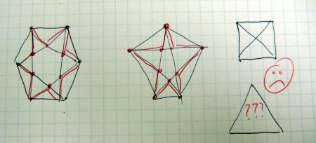 Drawn star basic \ by intersections Processing of