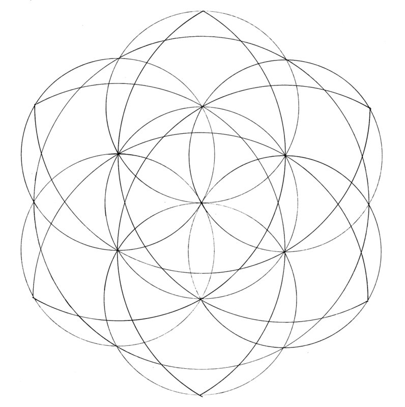 Drawn star basic As basic of with semicircles)