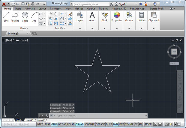 Drawn star basic That's Commands Using Essential Lines