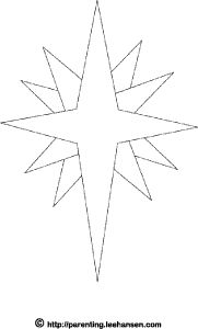 Drawn stars template Bethlehem coloring pattern star