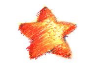 Drawn star different Crayon  Border Handmade Image