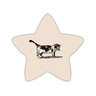 Drawn star cute Drawn Stickers Hand Cat Hand