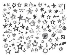 Drawn stare doodle PassionPNGcreation Stars Clipart by TanyaMakDesign