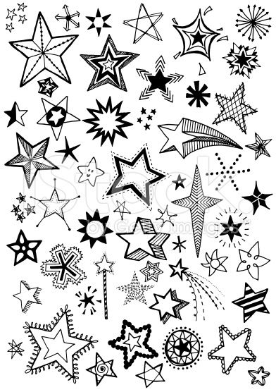 Drawn stare doodle  free free Stars royalty