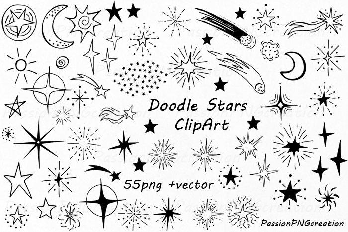 Drawn stare doodle Clip digital digital star Hand
