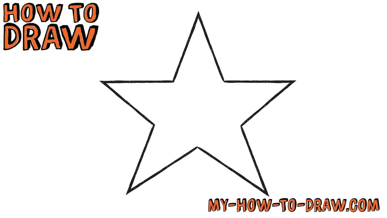 Drawn star easy Drawing *SUPER by draw a