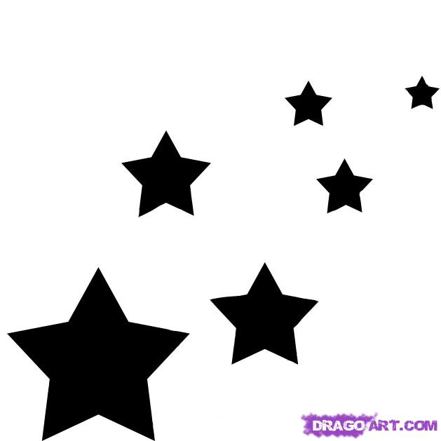 Drawn star easy Drawing Step Places Art Clip