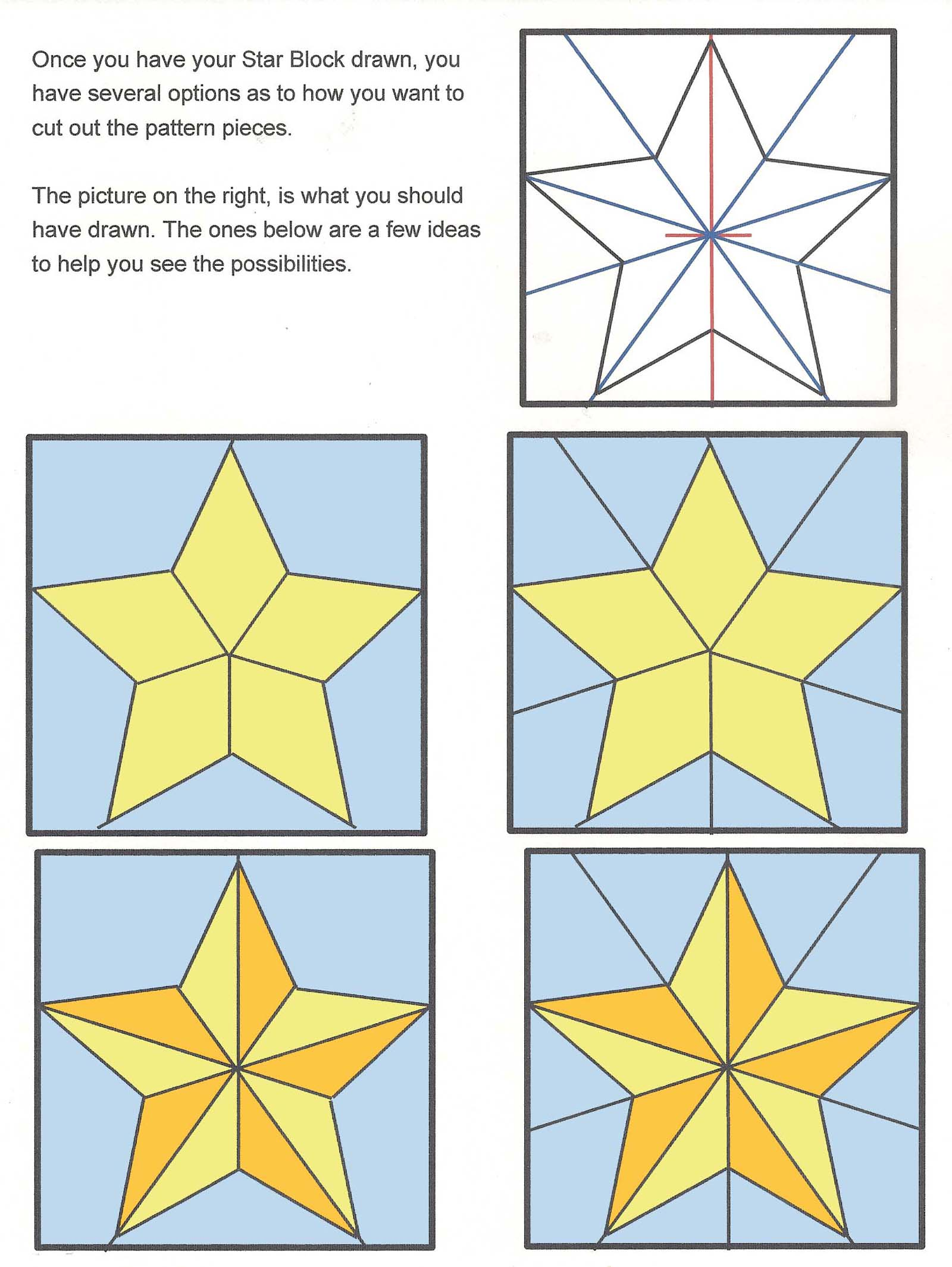 Drawn star different 5 24 about pattern star