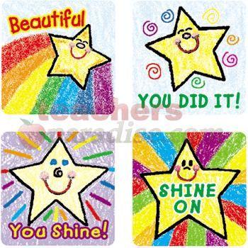 Drawn star kid Lignin 120/Pk & Stars: Stickers