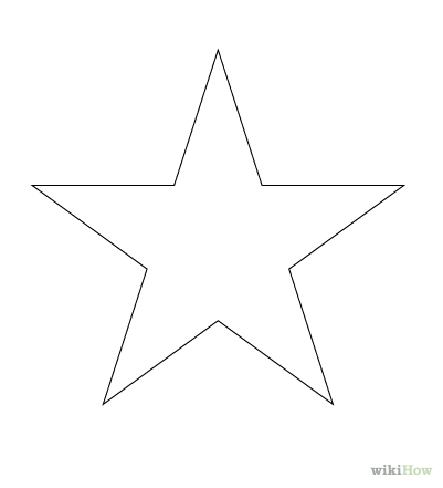 Drawn stars line A Draw Draw Star a