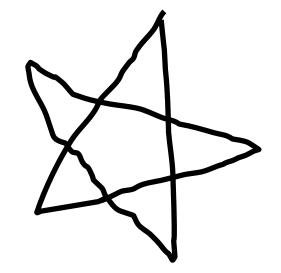 Drawn star line art Hand ArtworkItem Tribal 68039 in