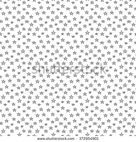 Drawn stare little Pattern hand Doodle black star