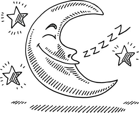Drawn stars night drawing Of Hand night and Stars