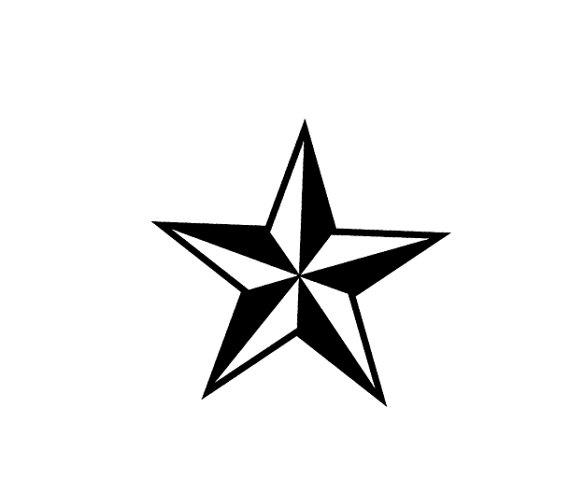 Drawn star norcal Star  Stamp Rubber Nautical