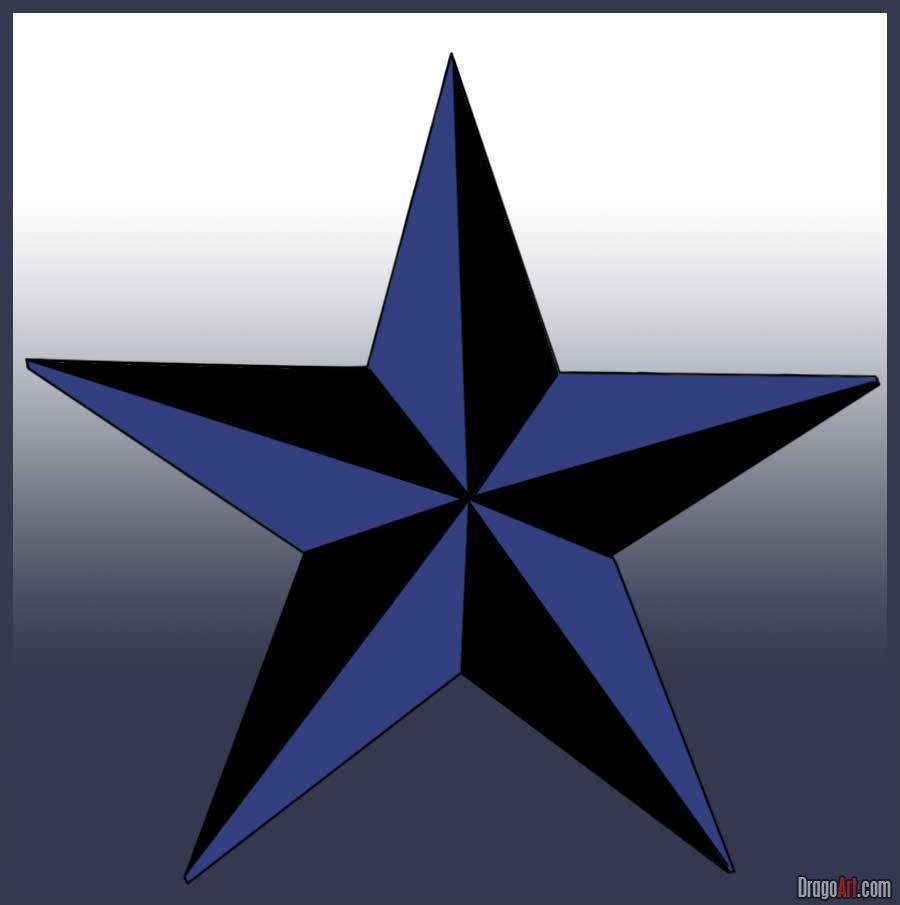 Drawn stars nautical  to nautical Draw a