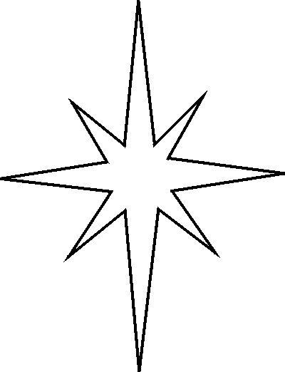 Drawn stars template StencilsChristmas Christmas Star Templates on